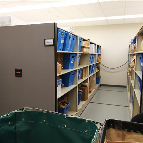 Powered Mobile Shelving at Wake County Public Safety Building, North Carolina
