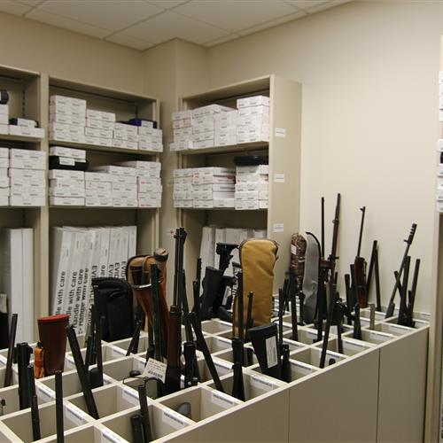 Weapons Evidence Storage, Wake County Public Safety Building, North Carolina