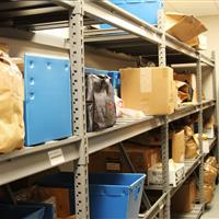 Evidence Storage on Racks at Wake County Public Safety Building, North Carolina