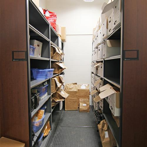 Evidence Storage on High-Density Mobile Shelving, Durham County Courthouse, North Carolina