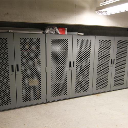 Supply Storage on Perforated Door Metal Shelving at Durham County Courthouse North Carolina & Supply Storage on Perforated Door Metal Shelving at Durham County ... pezcame.com
