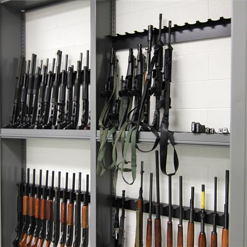 Floor Mounted Gun Evidence Storage at Durham County Courthouse, North Carolina