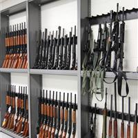 Shotgun and Rifle Evidence Storage at Durham County Courthouse, North Carolina