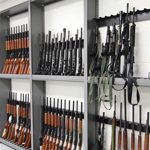 Shotgun and Rifle Evidence Storage at Durham County Courthouse, North Carolina