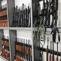 Shotgun and Rifle Storage on Weapons Racks at Durham County Courthouse, North Carolina