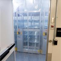 Cooler storage on ActivRAC mobile shelving at Bayer Pharmaceutical Company