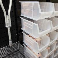 Bin storage on EZ Rails holds elastic bandages for Stanford Athletics