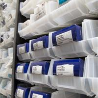 Splint organized in bins on FrameWRX shelving unit at Stanford University