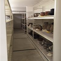 RaptorRAC™ Wide Span Shelving storing Museum Artifacts