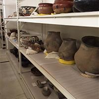 Museum Artifacts being stored on RaptorRAC™ Wide Span Shelving