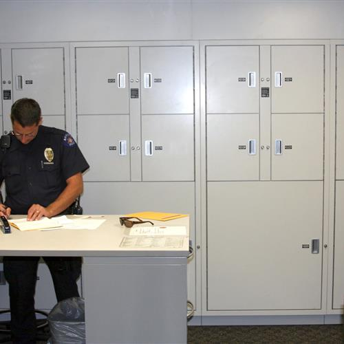 Temporary Evidence lockers at Aurora Police Department