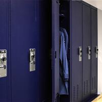 Law enforcement storage lockers in Bensalem Police Department