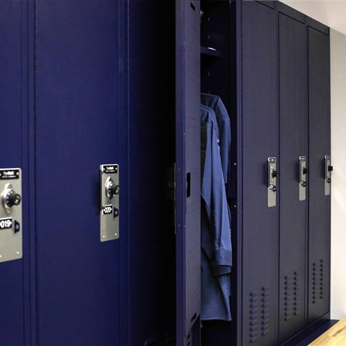 Law enforcement storage lockers in Bensalem Police Department