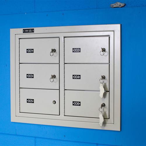 Sally port gun lockers in Bensalem Police Department