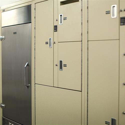 Short-term Evidence locker with refrigerator system at Bensalem Police Department