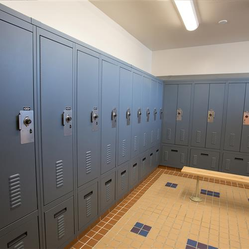 Single and double door personal storage lockers in Central Marin Police Department