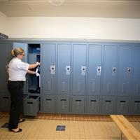 Law enforcement personal storage locker in Central Marin Police Department