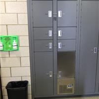 Temporary evidence storage lockers with refrigerated evidence storage