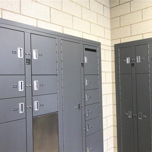 Temporary Evidence storage lockers at Dekalb police department