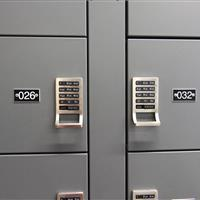 Evidence lockers in Dekalb Police Department