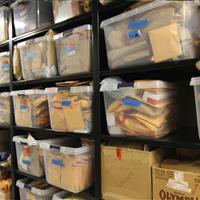 Metal shelving for evidence storage on mobile shelving