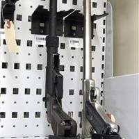 Small handgun storage rack for long term evidence storage