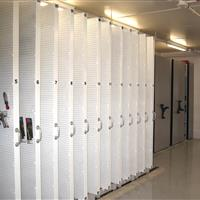 Manual high-density mobile shelving and hanging systems for tool storage