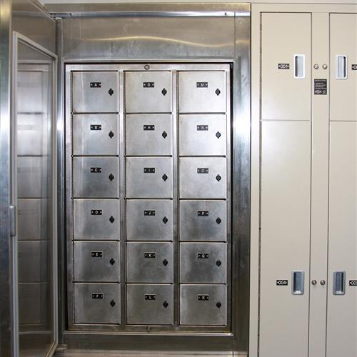 18 compartment refrigerated storage for biological evidence storage