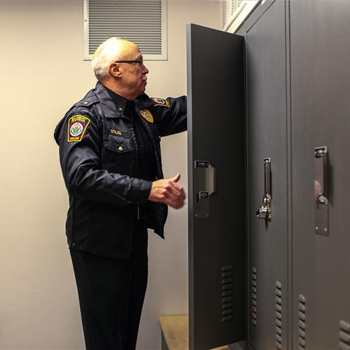 Law enforcement lockers at Salisbury Police Department