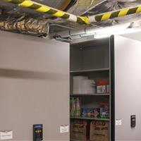 Athletic equipment storage secured by compact mobile at University of Nebraska