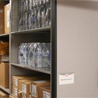 Secure Bulk storage on PIN pad access high-density mobile shelving at University of Nebraska