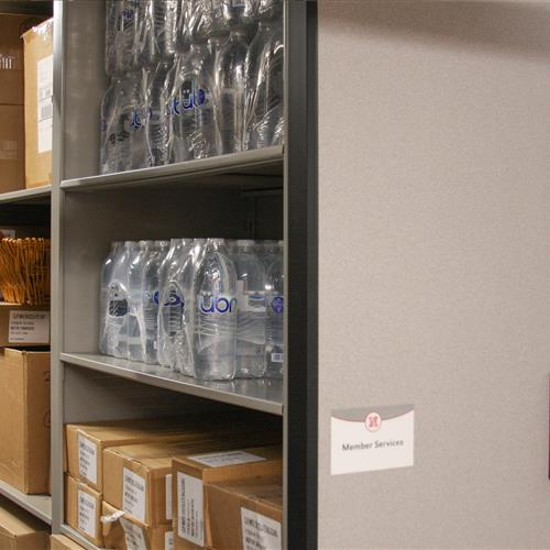 Secure Bulk storage on PIN pad access high-density mobile shelving at University of Nebraska
