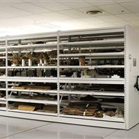 Artifact storage on compact mobile shelving at Yale University