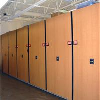 Costume storage on compact mobile storage at Brigham Young University
