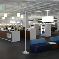 Reference desk at Madison public library
