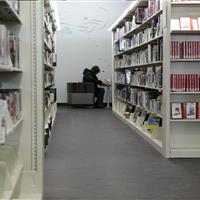 Library filing on static 4-post file shelving