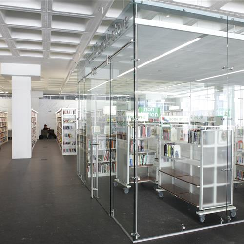 Cantilever book carts for added mobility