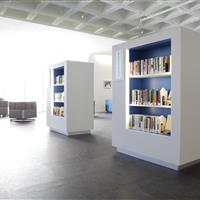 Library filing on 4-post shelving