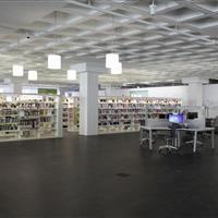 Library filing on static 4-post shelving
