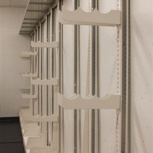 Cantilever shelving system for textile storage