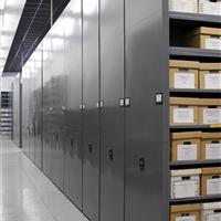 Archival storage on powered mobile storage system at Western Science Center