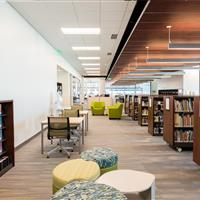 Library book shelving system on casters
