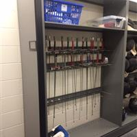 Fencing storage for intramural sports