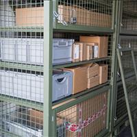 East Access to contents in SharkCage within the Container Warehouse II Container