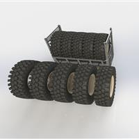 Wheel rack storing wheels inside cage
