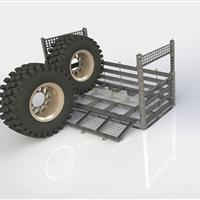 Wheel Rack demo of loading of tires