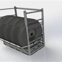 Optional extenders availabe for Wheel Rack SharkCage