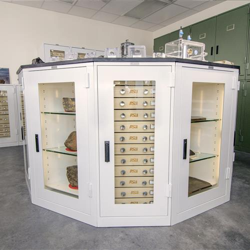 Meteorite Storage in Geology Cabinets, Arizona State University