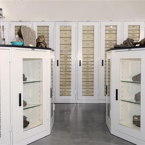 Display Storage in Geology Cabinets at Arizona State University