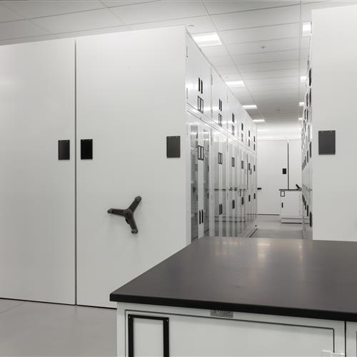 Couneter-Height and Compact Museum Cabinets at the Collections Studies Center at Yale University Art Gallery